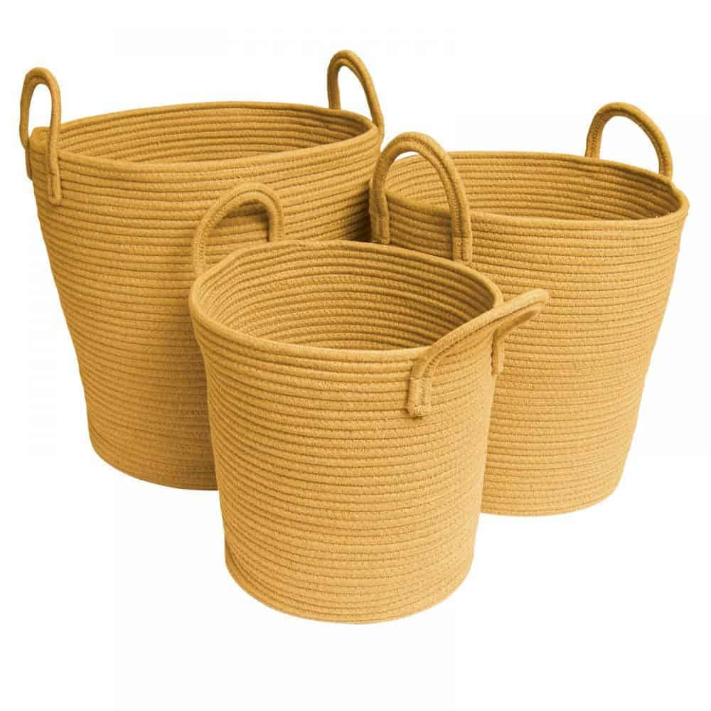 Cotton Rope Baskets Mustard Belle And Co Living