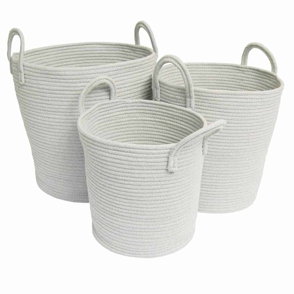 Cotton Rope Baskets White Belle And Co Living
